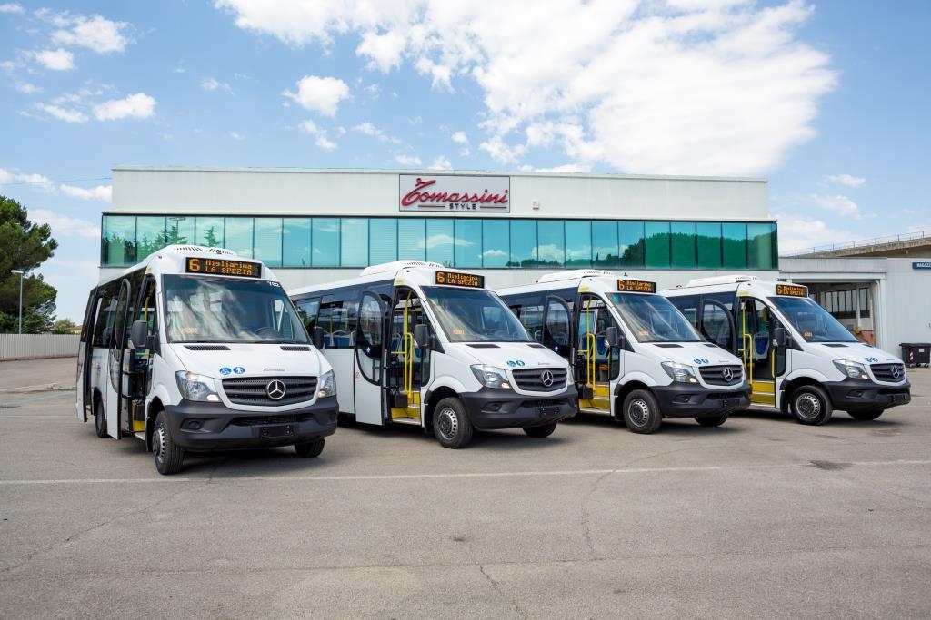 Dieci nuovi veicoli per il trasporto urbano firmati Tomassini Style  per l'azienda di trasporto di La Spezia