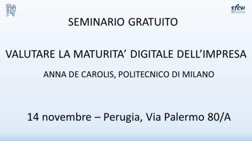 Con 4 ore di formazione gratuita scoprirete se siete pronti a diventare 4.0. Perugia, 14 novembre