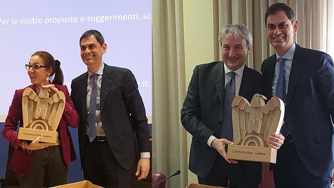 Presidenza nazionale Confindustria: imprenditori umbri a confronto con Giuseppe Pasini e Licia Mattioli